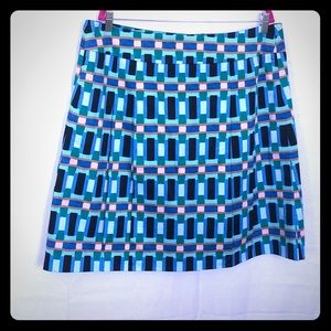 NWT Ann Taylor multi color got and flare skirt
